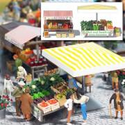 H0 Marktstand Obst, Honig