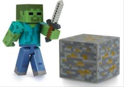 Minecraft Zombie Figur mit Zubehör