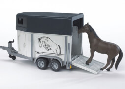 Bruder 02028 Pferdeanhänger 1 Pferd