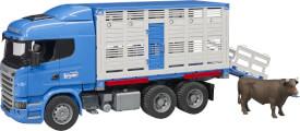 Bruder Scania R-Serie Tiertransport-LKW, ab 4 Jahren, Maße: 57,9 x 19,6 x 28,4 cm, Kunststoff
