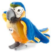 Steiff Lori Papagei, blau/gelb, stehend, 26 cm