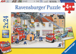 Ravensburger 088515  Puzzle Bei der Feuerwehr 2 x 24 Teile