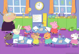 Ravensburger 090990 Puzzle: Peppa in der Schule, 2x24 Teile