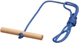Schlitten-Ziehseil mit Holzgriff