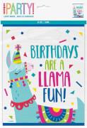 Happy Birthday Llama Geschenktüten 8 Stück