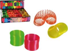 Kunststoffspirale Neon ca. 7,5 cm farbig sortiert