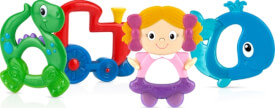 N#by Hart & Soft Hart & Soft Beißring: Zug, Puppe oder Dino, ab 0 Monaten